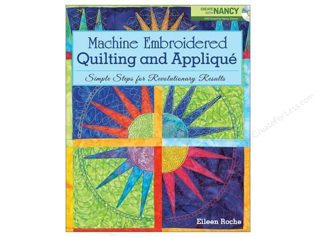 Krause Publications Machine Embroidered Quilting And Applique Book