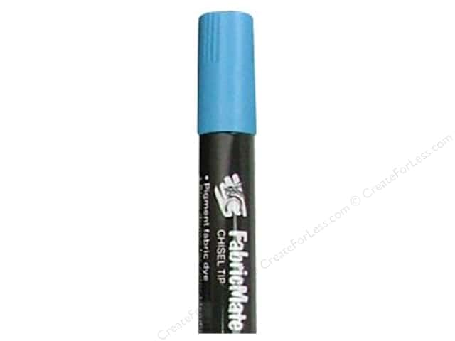 FabricMate Dye Markers Chisel Tip Jumbo Sky Blue (3 pieces)