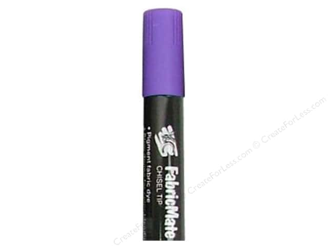 FabricMate Dye Markers Chisel Tip Jumbo Violet (3 pieces)