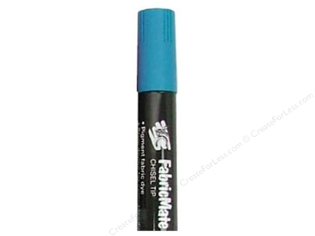 FabricMate Dye Markers Chisel Tip Jumbo Peacock Blue (3 pieces)