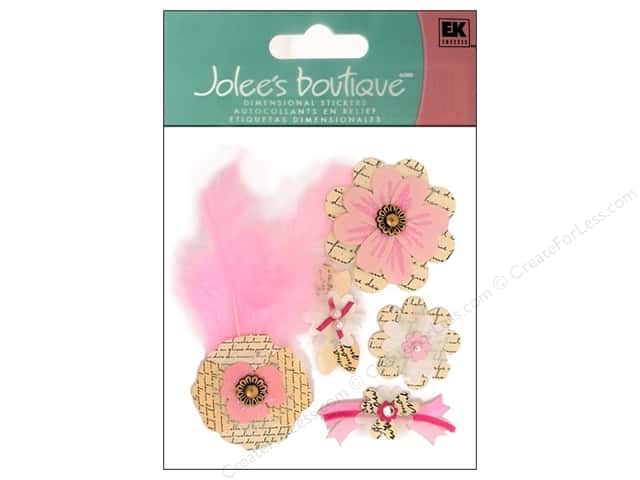 Jolee's Boutique Stickers Around The World Paper Collage Flowers