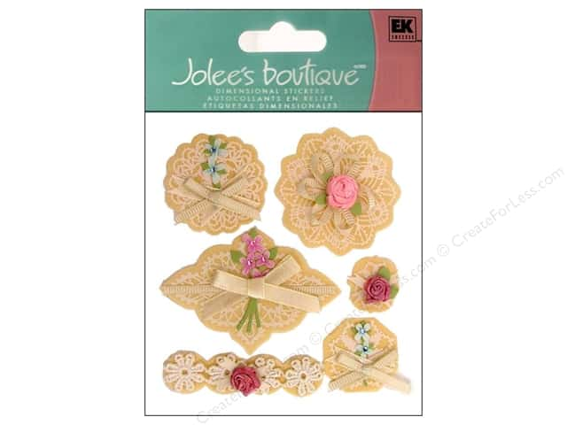 Jolee's Boutique Stickers Around The World Layered Doilies With Bows
