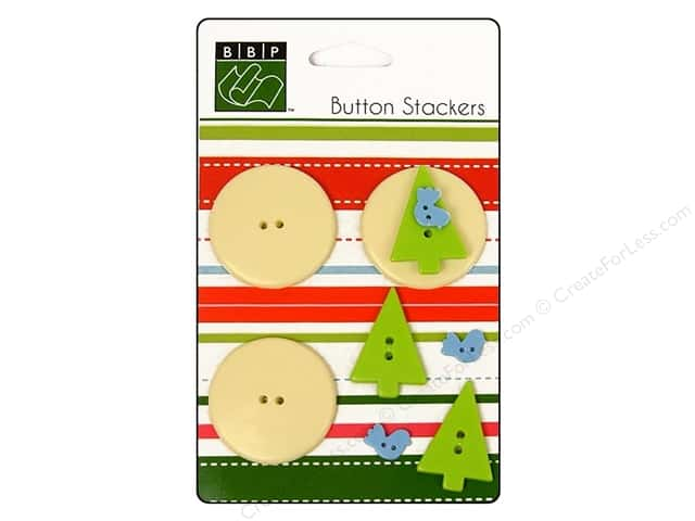 Bazzill Buttons Stackers 9 pc. Tree Bird