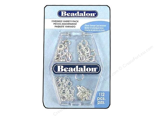 Beadalon Findings Variety Pack Silver 112pc
