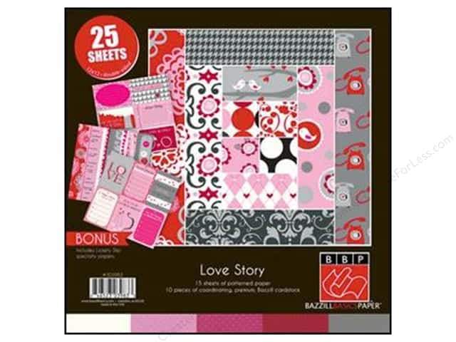 "Bazzill Multi Pack 12""x 12"" Love Story 25pc"