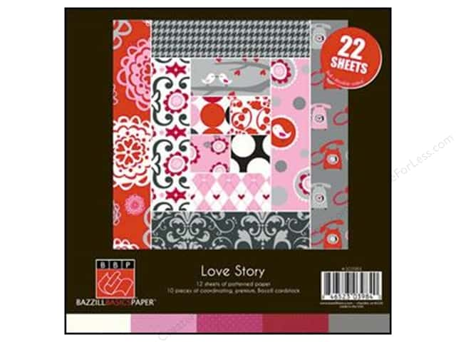 Bazzill 8 x 8 in. Multi Pack Love Story 22 pc.