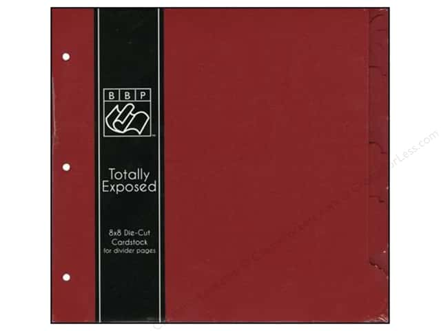 "Bazzill Cardstock 8""x 8"" Totally Exposed Divider Ruby Slipper"