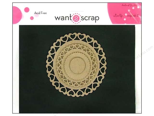 Want2Scrap Nestaboard Spellbinders Heart Circles