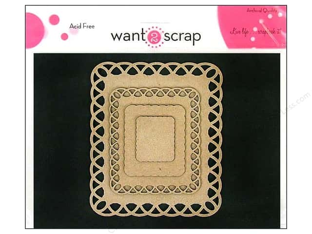 Want2Scrap Nestaboard Spellbinders Rectangles Lattice