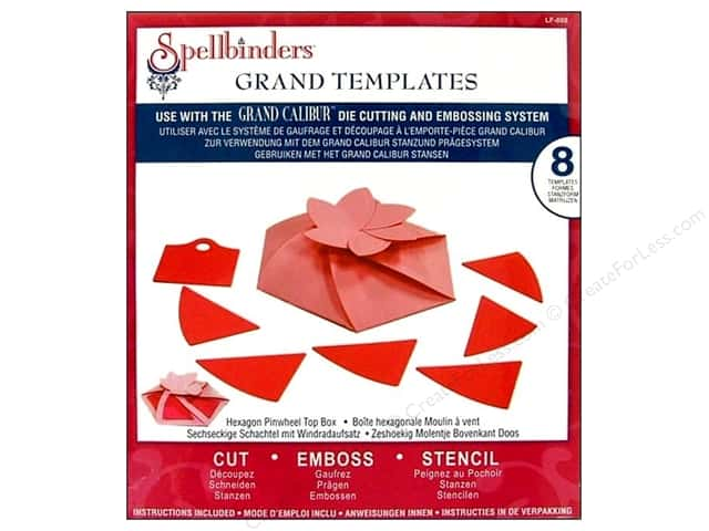Spellbinders Die Grand Template Box Hexagon Pinwheel