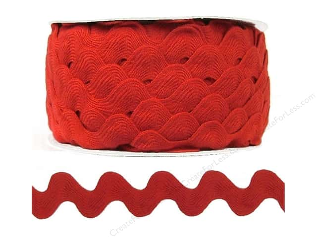 Ric Rac by Cheep Trims  1 in. Red (24 yards)