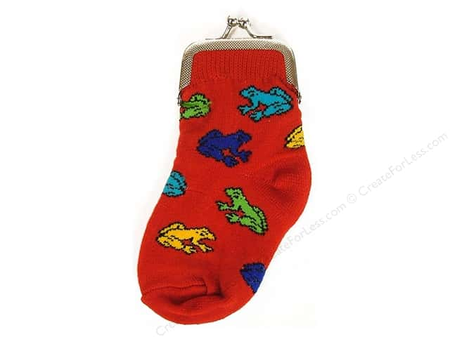 Graphic Impressions Sock Purse Frogs
