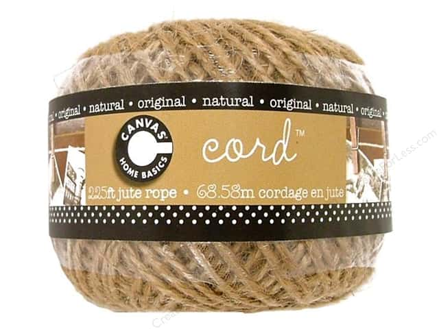 Canvas Corp Jute Cord Ball Natural 225 ft.