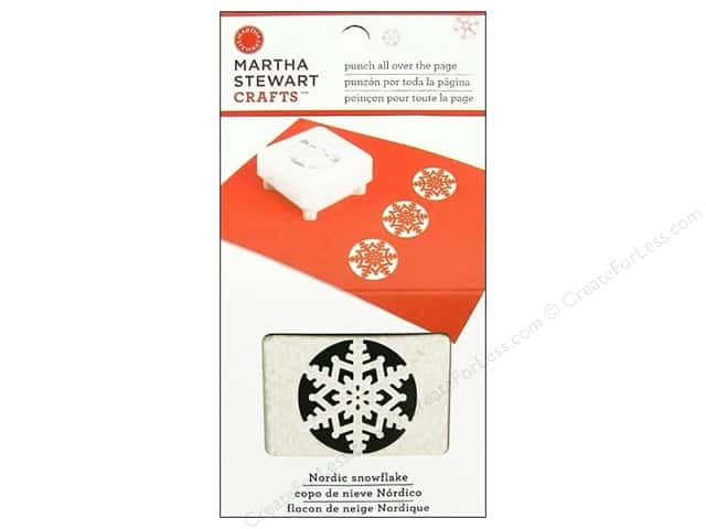 Martha Stewart Punch All Over The Page Nordic Snowflake