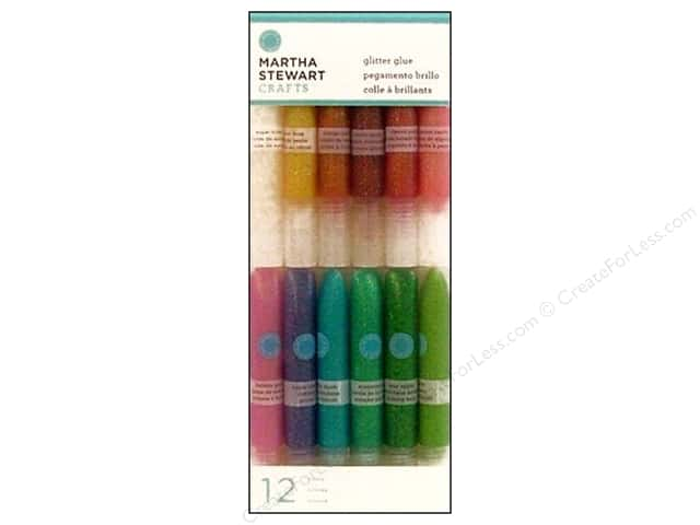 Martha Stewart Glitter Glue Iridescent 12pc