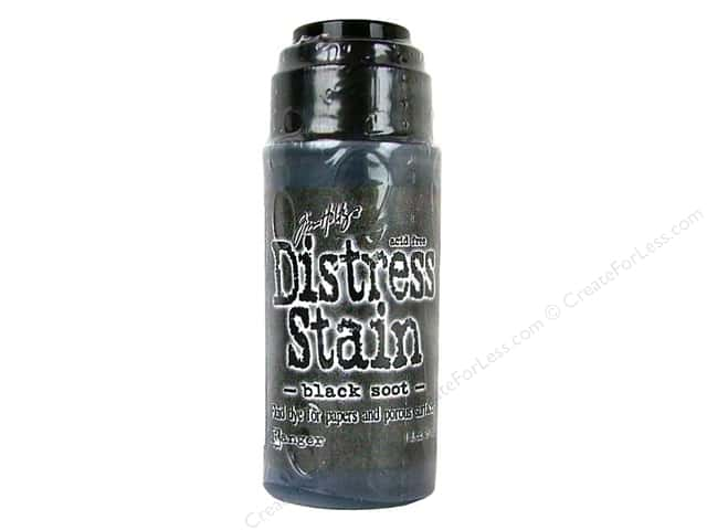 Tim Holtz Distress Stain Black Soot by Ranger 1 oz