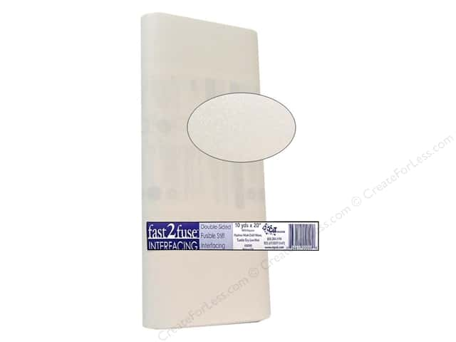 "C&T Interfacing Fast 2 Fuse Fusible Regular 20"" 10yd Bolt (10 yards)"