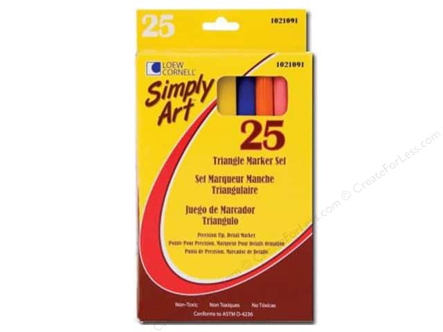 Loew Cornell Simply Art Triangle Markers 25pc