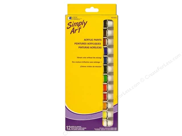 Loew Cornell Simply Art Acrylic Paints 12pc