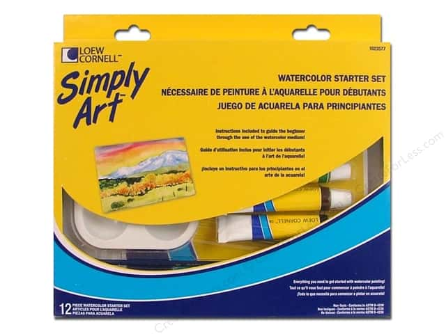 Loew Cornell Simply Art Watercolor Starter Set 12pc