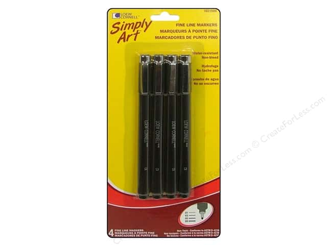 Loew Cornell Simply Art Fine Line Markers 4pc