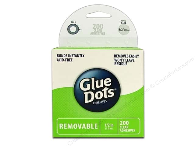 "Glue Dots Removable 1/2"" Box 200pc"