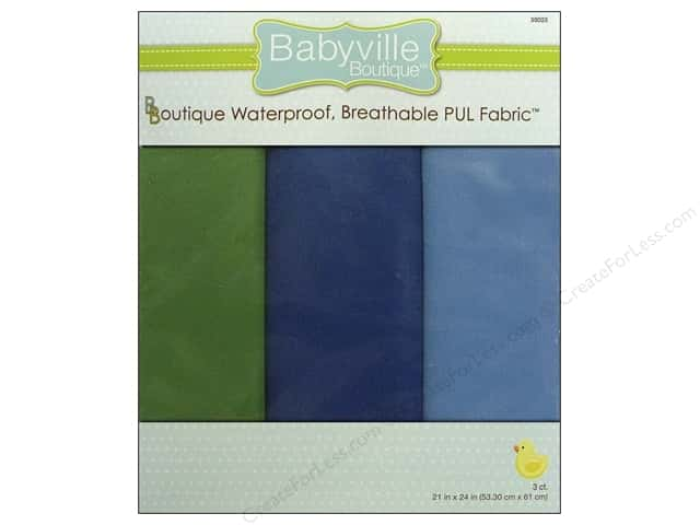 Dritz Babyville Boutique PUL Fabric 3 pc. Boy Solids