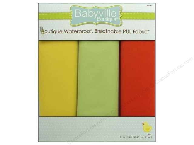 Dritz Babyville Boutique PUL Fabric 3 pc. Neutral Solids