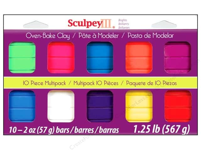 Sculpey III Clay Set 10pc Bright Ideas
