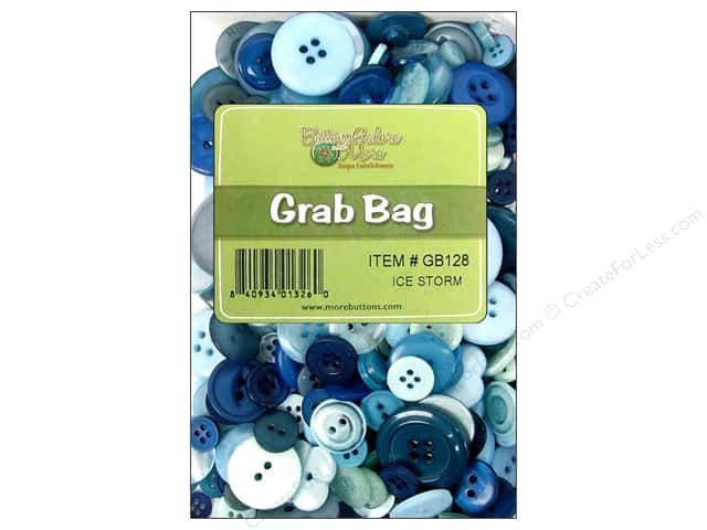 Buttons Galore Grab Bag 6 oz. Ice Storm