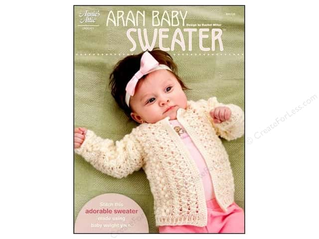 Annie's Attic Patterns Aran Baby Sweater Pattern by Rachel Miller