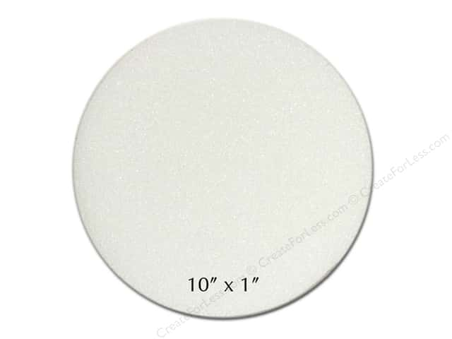 "FloraCraft Styrofoam Bulk Disc 10""x 1"" White (24 pieces)"