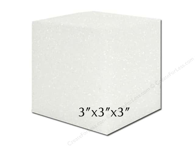 FloraCraft Styrofoam Block 3 x 3 x 3 in. White (24 pieces)