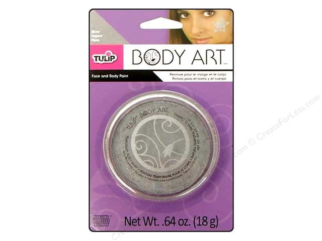 Tulip Body Art Face & Body Paint Metallic Silver 0.64oz