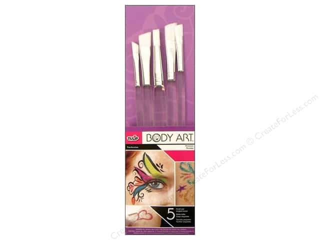 Tulip Body Art Brush Set Angled 5pc