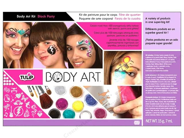 Tulip Body Art Kit Paint & Glitter Block Party