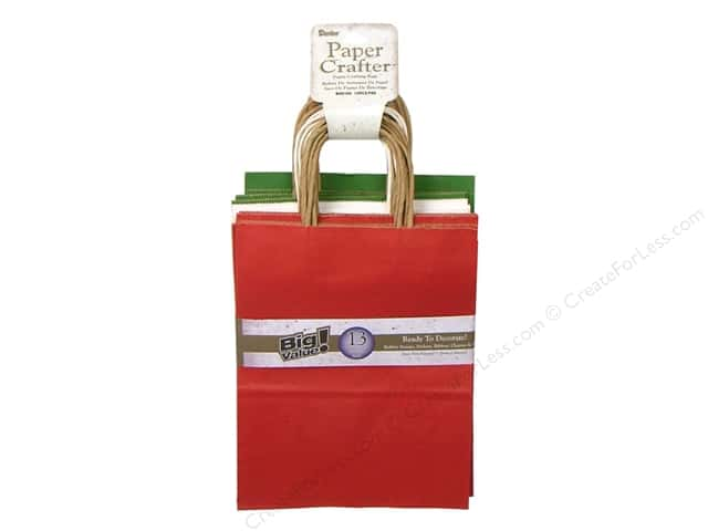"Darice Paper Crafter Bag 8""x 10.25"" Value Pack Christmas"