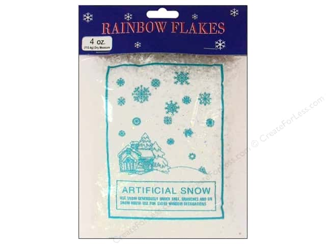 Darice Holiday Decor Snowflakes Artificial Snow 4oz Iridescent