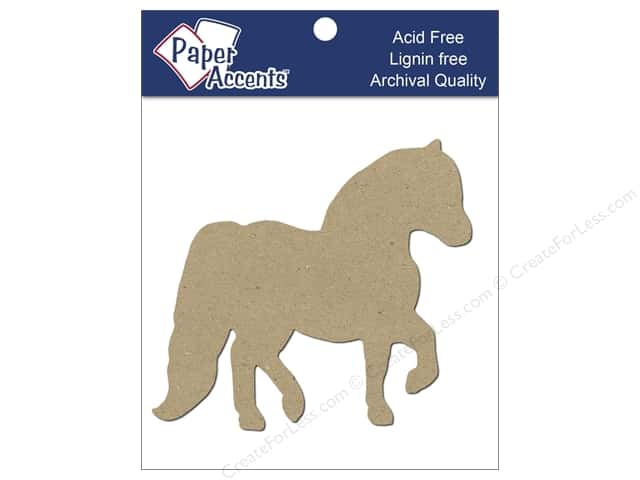 Paper Accents Chip Shape Horse Natural 8pc