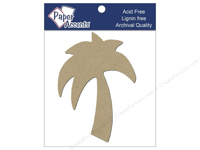 Paper Accents Chipboard Shape Palm Tree 8 pc. Kraft