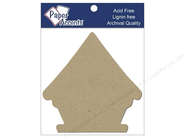 Paper Accents Chip Shape Birdhouse Natural 8pc