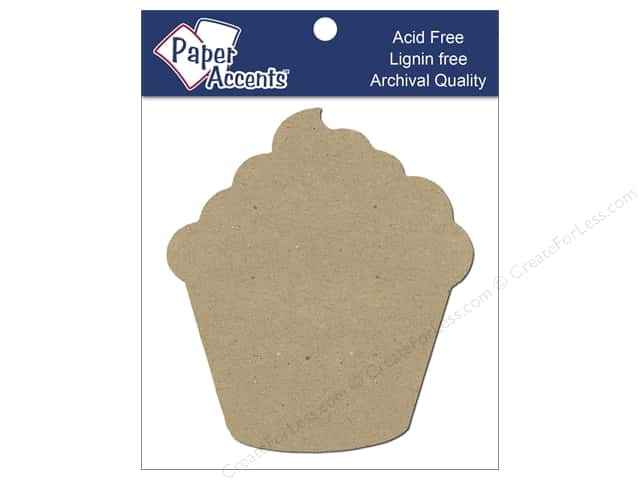 Paper Accents Chip Shape Cupcake Natural 8pc