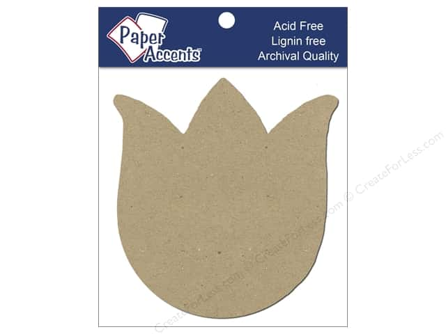 Paper Accents Chipboard Shape Tulip 8 pc. Kraft