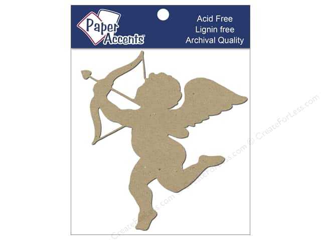 Paper Accents Chipboard Shape Cupid 8 pc. Kraft
