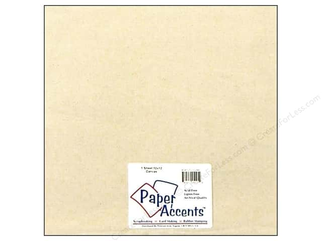 "Paper Accent Fabric Sheet 12""x 12"" Canvas"
