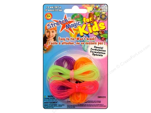 Pepperell Accessories Stretch Magic For Kids 1.2mm Neon