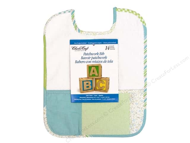 Charles Craft Bib Patchwork Green and Blue