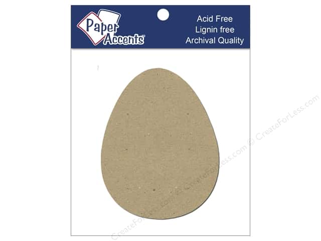 Paper Accents Chipboard Shape Egg 8 pc. Kraft