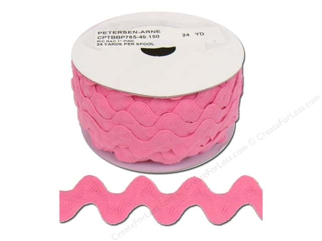 Ric Rac by Cheep Trims  1 in. Pink (24 yards)