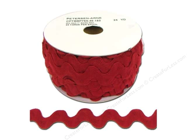 Ric Rac by Cheep Trims  1 in. Barn Red (24 yards)